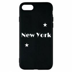 Чехол для iPhone 8 New York and stars