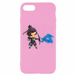 Чехол для iPhone 8 Overwatch Hanzo Chibi