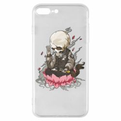 Чехол для iPhone 8 Plus A skeleton sitting on a lotus