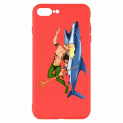 Чехол для iPhone 8 Plus Aquaman with a shark