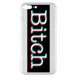 Чехол для iPhone 8 Plus Bitch glitch