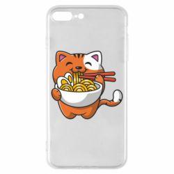 Чохол для iPhone 8 Plus Cat and Ramen