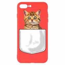 Чехол для iPhone 8 Plus Cat in your pocket