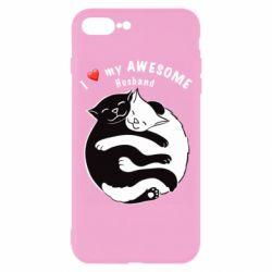 Чехол для iPhone 8 Plus Cats and love