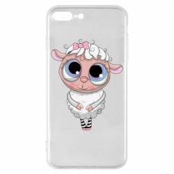 Чехол для iPhone 8 Plus Cute lamb with big eyes