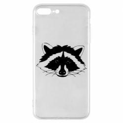 Чохол для iPhone 8 Plus Cute raccoon face