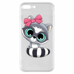Чехол для iPhone 8 Plus Cute raccoon