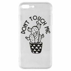 Чехол для iPhone 8 Plus Don't touch me cactus