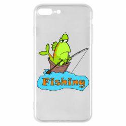 Чехол для iPhone 8 Plus Fish Fishing
