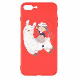 Чохол для iPhone 8 Plus Girl with a lama