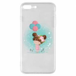 Чехол для iPhone 8 Plus Girl with balloons