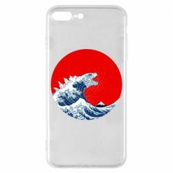 Чохол для iPhone 8 Plus Godzilla Wave