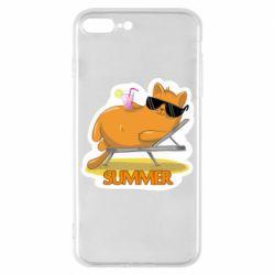 Чохол для iPhone 8 Plus Котик на пляжі