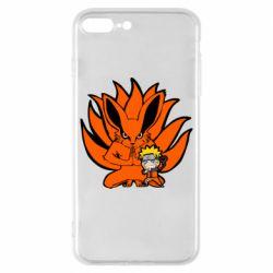 Чохол для iPhone 8 Plus Kurama And Naruto