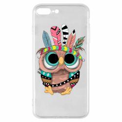Чохол для iPhone 8 Plus Little owl with feathers