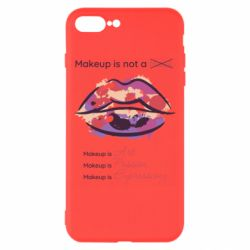 Чохол для iPhone 8 Plus Make Up Is Not A Mask LIps