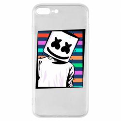 Чехол для iPhone 8 Plus Marshmello Colorful Portrait