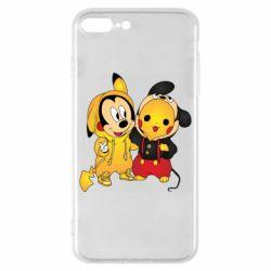 Чехол для iPhone 8 Plus Mickey and Pikachu