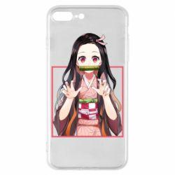 Чохол для iPhone 8 Plus Nezuko