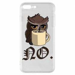 Чехол для iPhone 8 Plus Owl and coffee