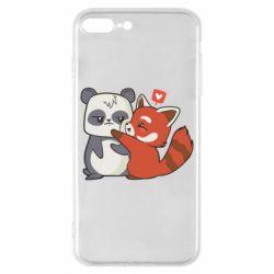 Чохол для iPhone 8 Plus Panda and fire panda