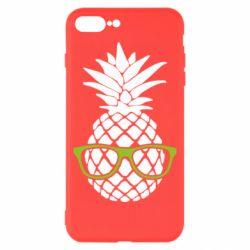 Чехол для iPhone 8 Plus Pineapple with glasses