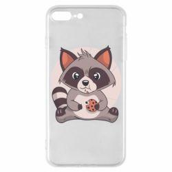 Чохол для iPhone 8 Plus Raccoon with cookies