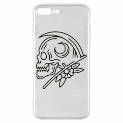 Чохол для iPhone 8 Plus Skull with scythe
