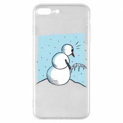 Чохол для iPhone 8 Plus Snowman. It's Cold!