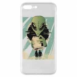 Чохол для iPhone 8 Plus Alien with a can