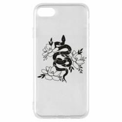 Чохол для iPhone 8 Snake with flowers