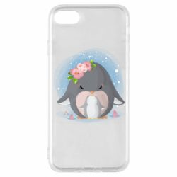 Чехол для iPhone 8 Two cute penguins
