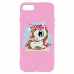 Чохол для iPhone 8 Unicorn with flowers
