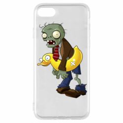 Чехол для iPhone 8 Zombie with a duck