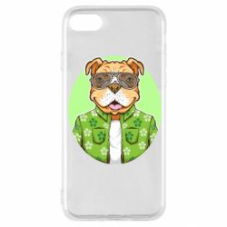 Чохол для iPhone SE 2020 A dog with glasses and a shirt