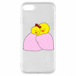 Чехол для iPhone SE 2020 A pair of chickens and a blanket
