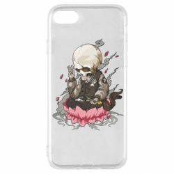 Чехол для iPhone SE 2020 A skeleton sitting on a lotus