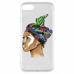 Чохол для iPhone SE 2020 African girl in a color scarf