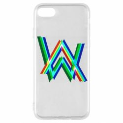 Чехол для iPhone SE 2020 Alan Walker multicolored logo
