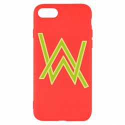 Чехол для iPhone SE 2020 Alan Walker neon logo