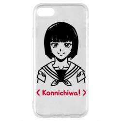 Чехол для iPhone SE 2020 Anime girl konichiwa