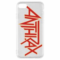 Чохол для iPhone SE 2020 Anthrax red logo