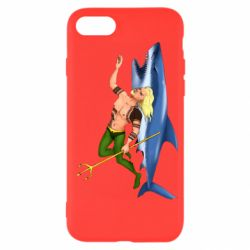 Чехол для iPhone SE 2020 Aquaman with a shark