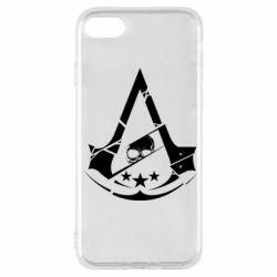 Чехол для iPhone SE 2020 Assassin's Creed and skull 1