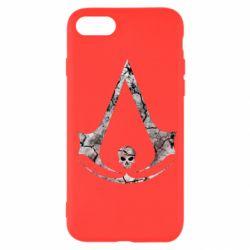Чехол для iPhone SE 2020 Assassins Creed and skull