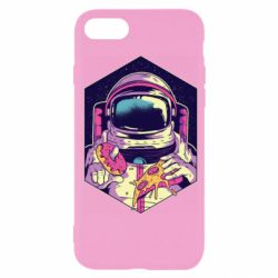 Чехол для iPhone SE 2020 Astronaut with donut and pizza