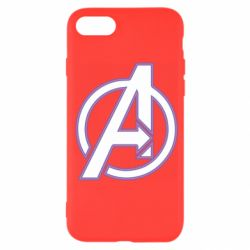 Чехол для iPhone SE 2020 Avengers and simple logo