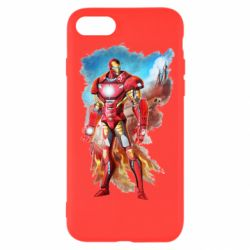 Чохол для iPhone SE 2020 Avengers iron man drawing