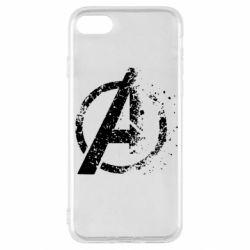 Чехол для iPhone SE 2020 Avengers logotype destruction