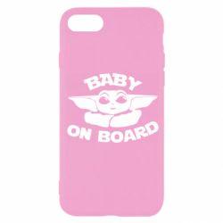 Чехол для iPhone SE 2020 Baby on board yoda